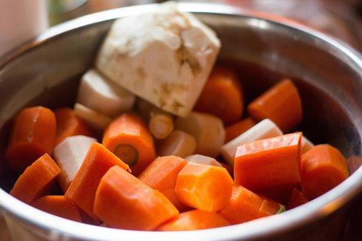 Chicken Soup, Vegetables, Carrot, Celery, A Vegetable