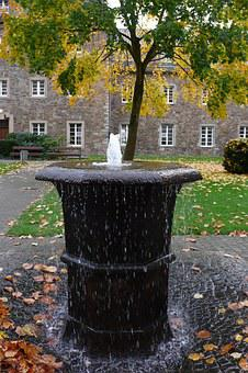 Fountain, Monastery, Church, Courtyard, Architecture