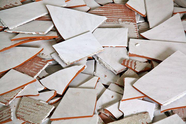 Tiles, Broken, Broken Tiles, Construction, Material
