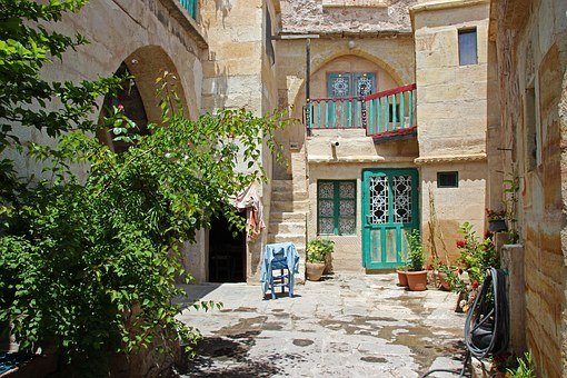 Turkey, Cappadocia, Courtyard, Tufa, Mediteran, Quaint