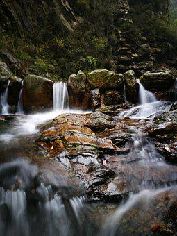 In Wuling Mountain, Creek, Falls