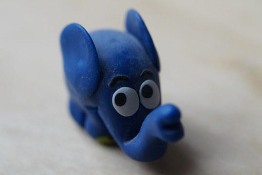 Polymer Clay, Fig, Elephant, Broadcast With The Mouse