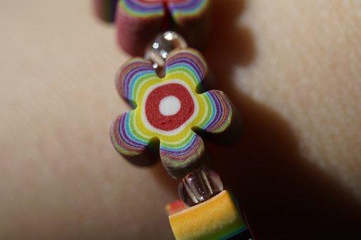 Bracelet, Colorful, Flowers, Floral, Color, Children