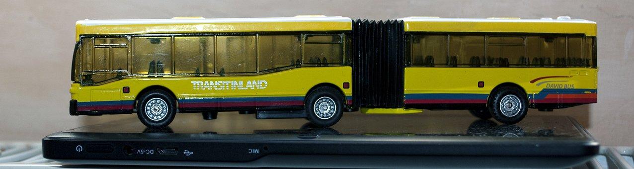 Bus, Toy, Transportation, Child, Childhood, Fun