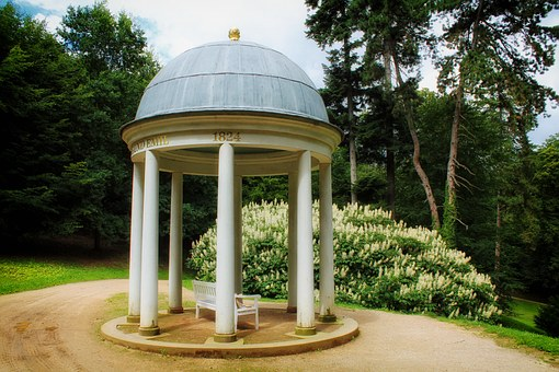 Gazebo, Pavilion, Structure, Park Nature, Outside