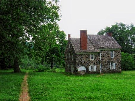 Brandywine, Pennsylvania, House, Home, Old, Trees