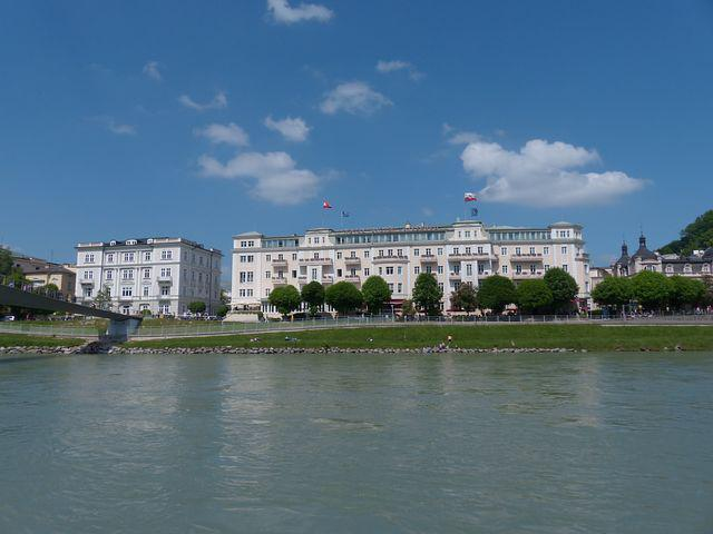 Hotel Sacher, Hotel, Building, Salzburg, Salzach