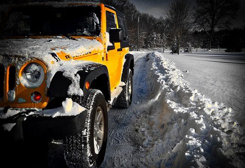 Jeep Wrangler Rubicon, Jeep Wrangler, Snow, Jeep