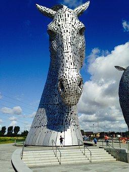 Kelpie, Horse, Mythical, Water, Sculpture, Scotland
