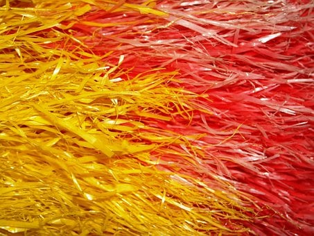 Raphia, Rope, Yellow, Red, Kemucing, Cleaners, Dust