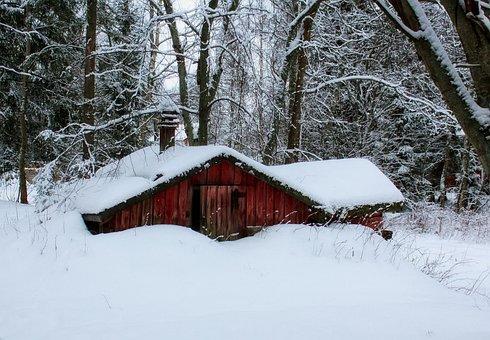 Finland, Landscape, Scenic, Cabin, Hut, House