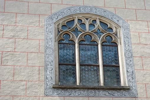 Window, Old, Glass, Leaded Glass, Historicized