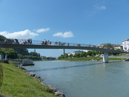 Makartsteg, Bridge, Pedestrian Bridge, Cyclist Bridge