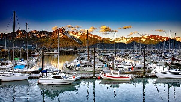 Seward, Alaska, Boats, Ships, Sailboats, Marina, Bay