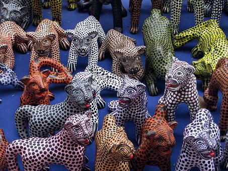 Mexico, Jaguars, Trinkets, Trade, Ethnic, Crafts
