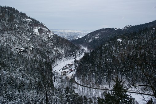 Zittau, Mountains, Zittau Mountains, Oybin, Snow