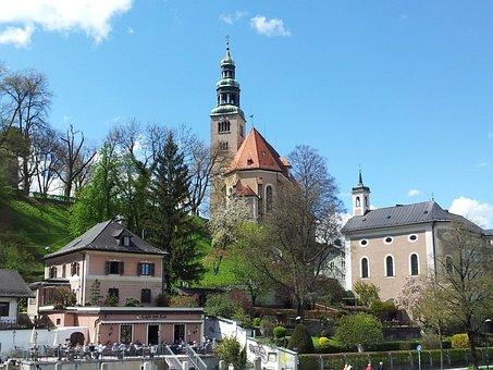 Salzburg, Müllner Church, Mülln, Building, City