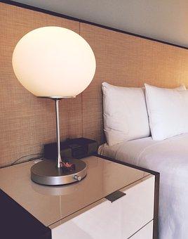 Hotel, Room, Bed, Nightstand, Travel, Luxury, Hyatt