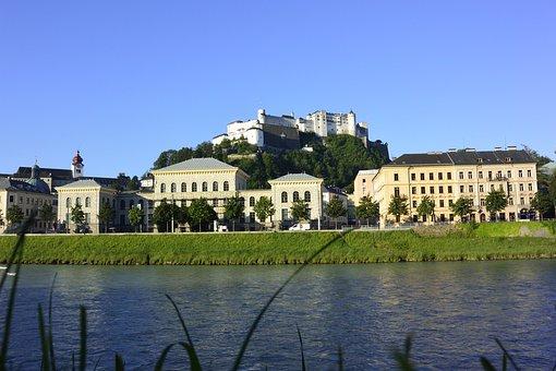 Salzburg, Austria, Hohensalzburg Fortress, Old Town