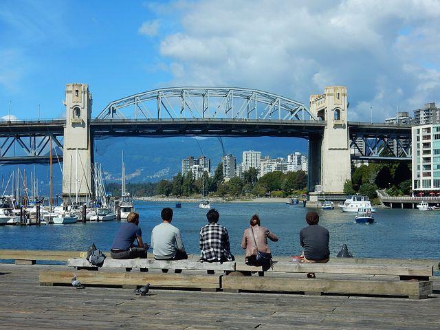 Burrard Street Bridge, Vancouver, False Creek, Pacific
