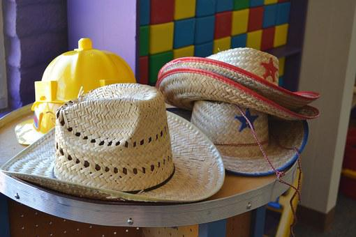 Dress Us, Play, Costume, Cowboy, Young, Dress, Hats