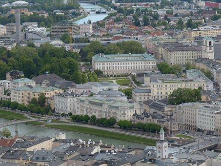 Salzburg, Neustadt, City View, Salzach, Promenade