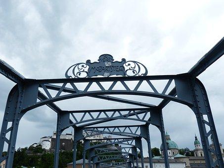 Mozartsteg, Bridge, Web, Protected Monument