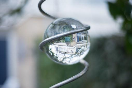 Glass, Bowl, Effect, Spiral, Reflection, Mirror, House