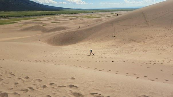 Great Sand Dunes, Running, Sand, Great, Landscape