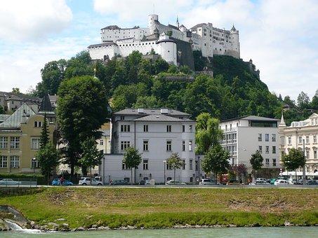 Salzburg, Austria, Summer, Fortress, Architecture