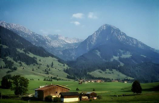 Bavaria, Germany, Landscape, Scenic, Mountains, Fields