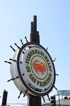 Fishermans Wharf, Usa, America, San Francisco, Shield