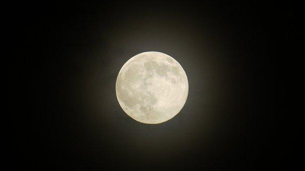 Moon, Star, The Fullness Of, The Night Sky, Sky, Night