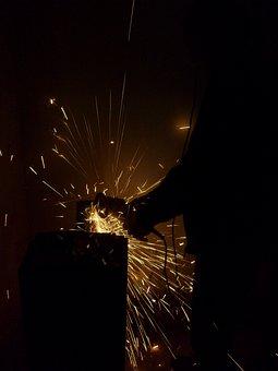 Flexing, Craftsmen, Craft, Stahlbau, Shower Of Sparks