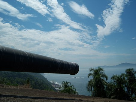 Cannon, Mouth Of Cannon, Strong, Fortress, Praia Grande