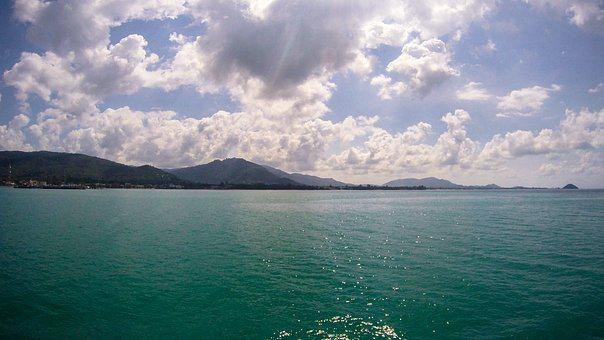 Thailand, Sea, Clouds, Water, Travel, Tropical, Summer