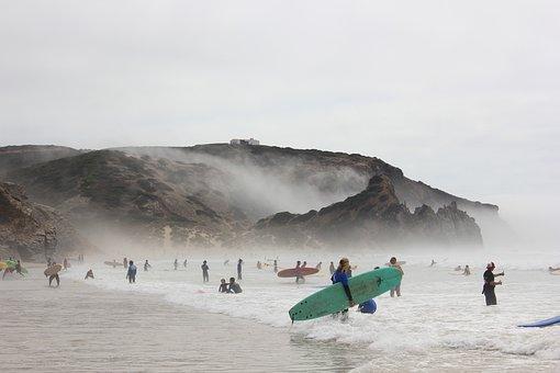 Beach, Surfers, Surf, Surfing, Ocean, People, Portugal