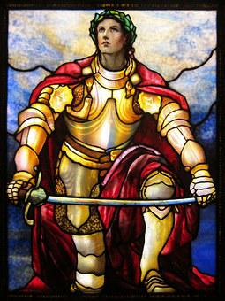 Soldier Of The Lord, Tiffany Glass, Leaded Glass