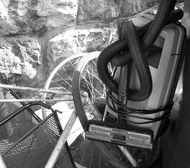 Vacuum Cleaner, Wheel, Waste, Art, Black And White