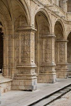 Monastery, Cloister, Architecture, Vault, Archway