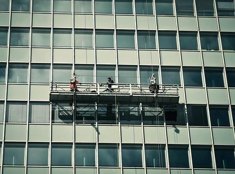 Facade, Window, Window Cleaner, Architecture, Building