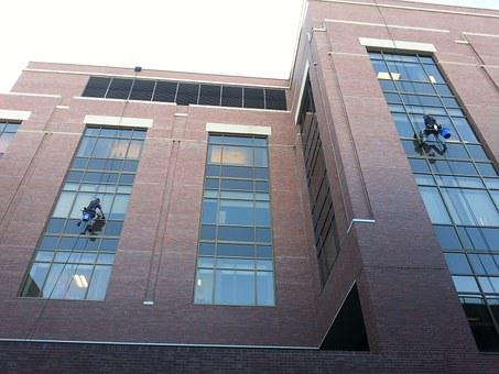 Window Cleaners, Building, Squeegee, Hospital