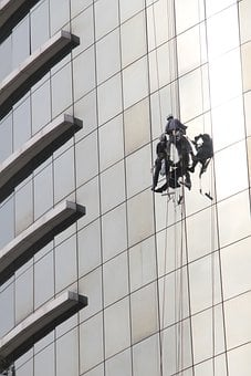 Window Cleaner, Window Cleaning, Office Tower