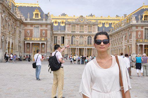 Woman, Glasses, Versailles, France, The Palace