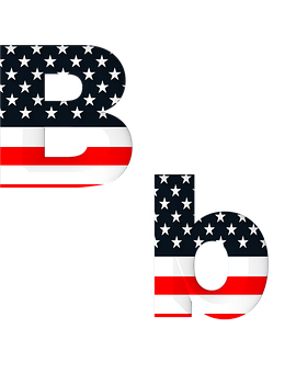 Letter, Abc, Alphabet, American, Flag, Stars, Stripes