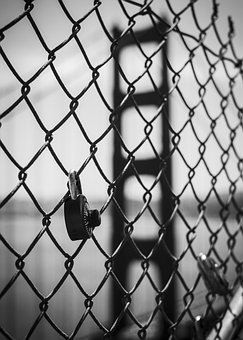 Fence, Castle, Love, Bridge, Padlocks