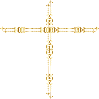 Jesus, Cross, Gold, Christ, Divine