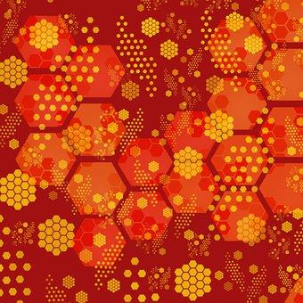 Christmas, Christmasbackground, Christmas Card, Hexagon