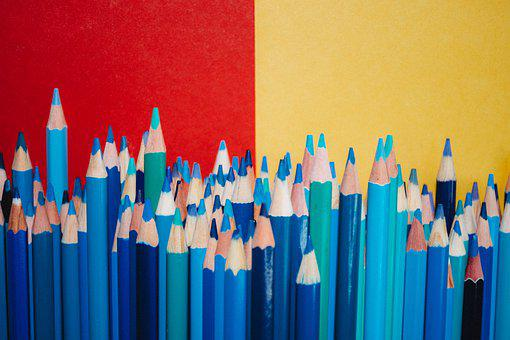 Pencils, Colorful, Color, School