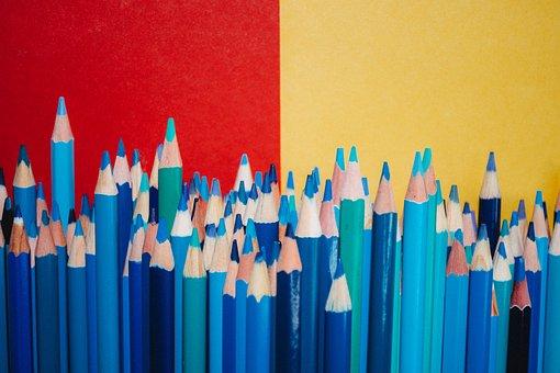 Pencils, Colorful, Color, School, Education, Design